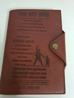 To Son - From Dad - Aim For The Skies - Leather Journal Cover