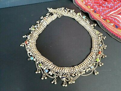 Old Bedouin Silver Belt / Necklace with Local Stones …beautiful collection & acc