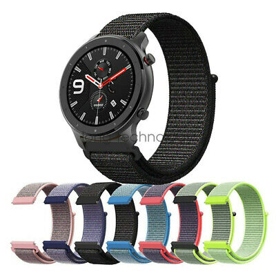 Woven Nylon Sport Loop Wristband Strap For Amazfit GTR 42mm 47mm Watch Band