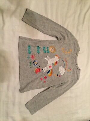 Girls Long Sleeved Top Unicorn Age 4-5 Years Marks and Spencer