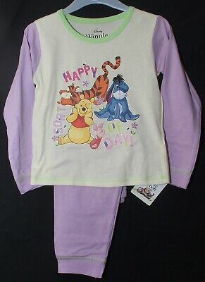 "Disney WINNIE THE POOH Girls Pyjamas/ WTP ""HAPPY SORT OF DAY!"" PJs 1.5 - 5 Years"