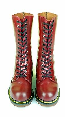 Dr Martens Made in England 1888 RARE steel toe boots 14 eyes,Oxblood UK 5 EU 38