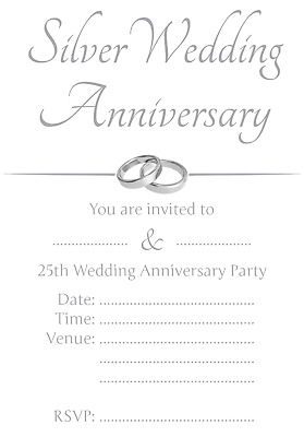 1 100 Pack Of 25th Silver Wedding Anniversary Party