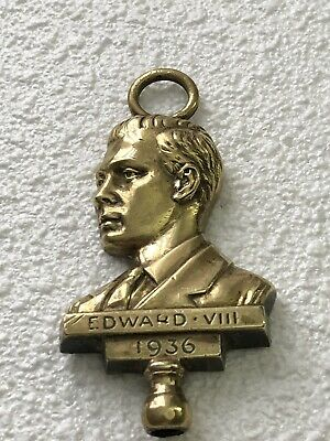 Vintage Brass Door Knocker Engraved Edward VIII 1936