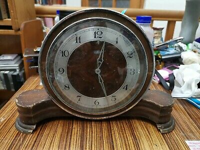 RETRO/VINTAGE Metamec Art Deco Electric Wooden Mantle Clock