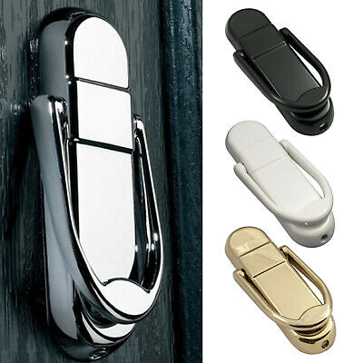 Chrome Door Knocker Front Modern Gold White Black 12cm Long