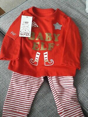 Baby Unisex Boys Girls F&F Christmas Outfit up to 3 months