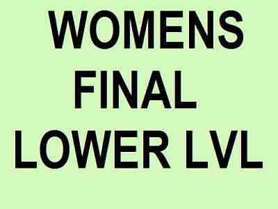 Australian Open Tickets ~ Womens Final ~ Saturday 1 Feb ~ Lower Level ~ Women's