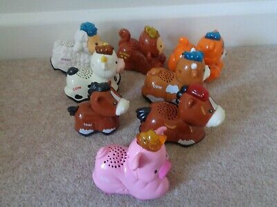 Vtech Toot Toot Animals Tiger Monkey  Horse  Chicken And Cow Bundle