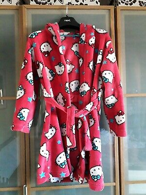 Hooded Hello Kitty Dressing Gown age 9 10