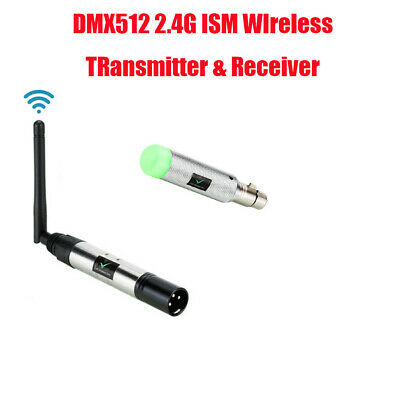 DMX512 Wireless Receiver Transmitter 2.4G LED Stage Lighting Effects Controllers