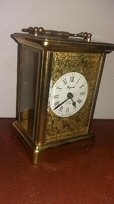 Vintage brass Bayard 8 day 7 jewel carriage clock by Duverdrey & Bloquel