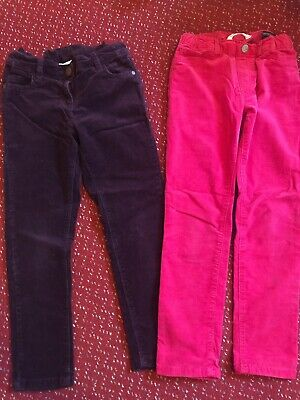 Girls Bundle 2 Pairs of Trousers Size 7 Years Next / H&M