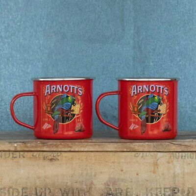 Enamel mug, Arnotts, set of two, boxed
