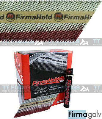 Collated Nails With Gas 1st Fix Firmagalv Paslode Equiv 2.8 x 63mm 3300 + 3 Gas