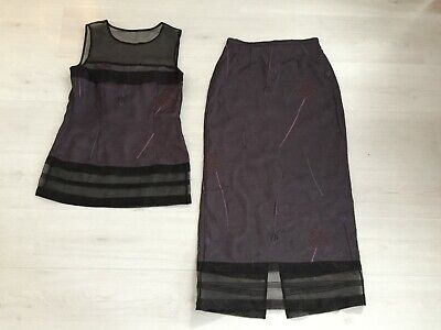 Part Two Long Skirt & Matching Top (2 Piece Set) Size Eur 38 Uk 10