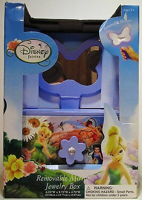 Disney Fairies Tinkerbell Childrens Kids Girls Jewelry Box Removable Mirror