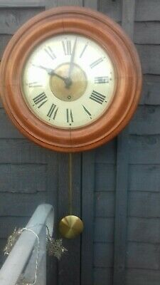 Superb Antique postmans  wall clock with pendlum