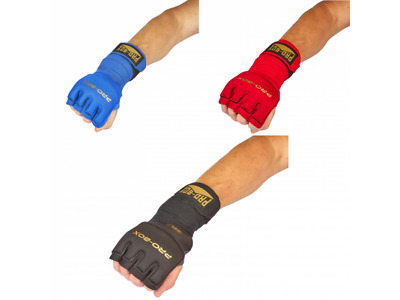 Pro Box Boxing Gel Wraps Black-Gold Red Blue