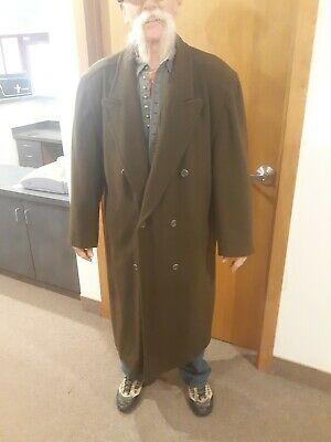 Vintage Hugo Boss Double Breasted Wool Over Coat Topcoat 40R