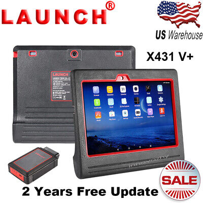 LAUNCH X431 V+ ScanPad OBD2 Diagnostic Scanner Tool Multi-Language Full System
