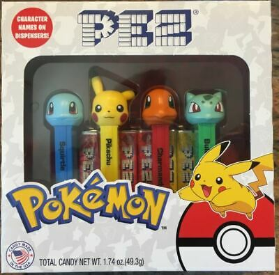 Pokemon Pez Set Of 4 - New For 2019! - In Collectors Box With Names On Stems!