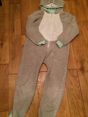 John Lewis cat all in one pyjamas dressup for girl boy aged 10. With tail. VGC