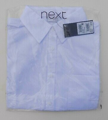 NEXT SCHOOL white girls/boys cotton tagged/sealed school shirt. Age 15.