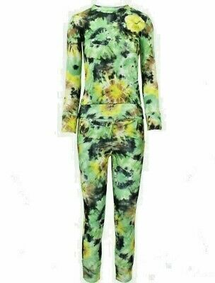 Girls FLORAL Print 2-Piece Lounge Wear Tracksuit Jogging Bottoms Top 13/14 years