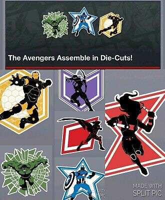 Topps Marvel Collect Card Trader Avengers Assemble Die-Cut Set of 6