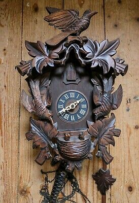 Cuckoo Clock (Albert Schwab) vintage, traditional, Clock 859, UK seller