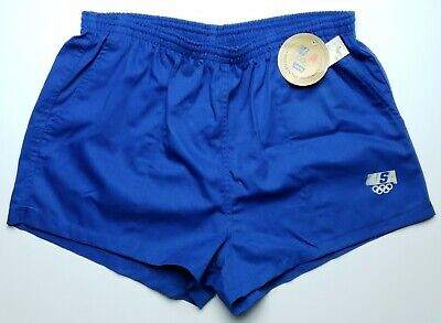NEW VTG Levis Mens XL Blue USA Olympic Running Track Sprinter Shorts Athletic