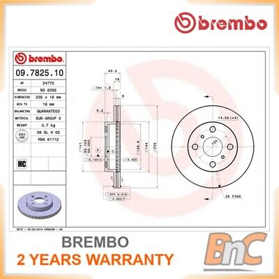 2x BREMBO FRONT BRAKE DISC SET TOYOTA OEM 09782510 4351252020
