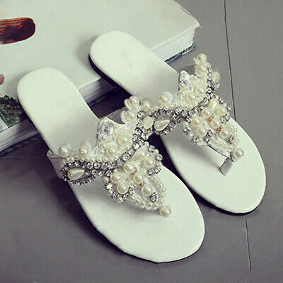 2Pcs Pearl Rhinestone Shoe Applique Flatback Sew On Shoes Patch Badge DecorFB