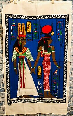 Tessilca The Ancient Egyptian Goddess Isis Leading Queen Nefertari Tapestry