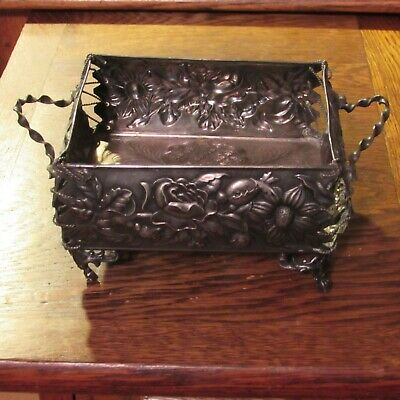Antique James W.Tufts silverplate basket