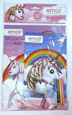 Emoji Colouring Books and Pencils Activity Play Pack Genuine RRP £2.99
