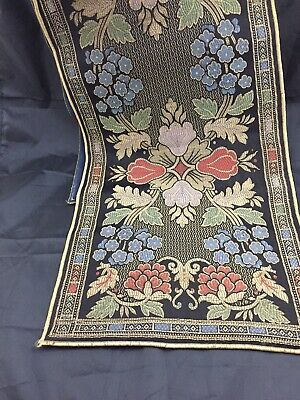 """Antique Brocade Tapestry Table Runner 50""""~Beautiful!"""