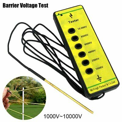 Fence Voltage Tester Farm Fencing Poly Wire Tape Rope Electric Solar AU SHIP