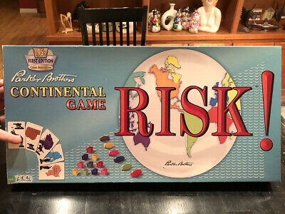 """1959 Reissue """"RISK"""" Board Game, Parker Brothers Continental 2013 Hasbro COMPLETE"""