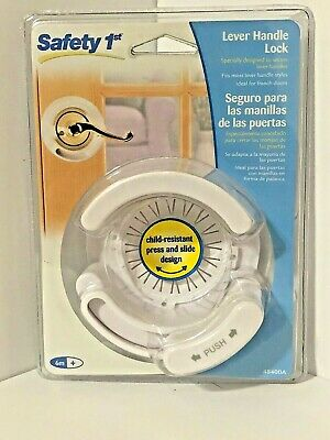 NEW Safety 1st LEVER HANDLE LOCK #48400 Fits Most Latches French Baby Child Door
