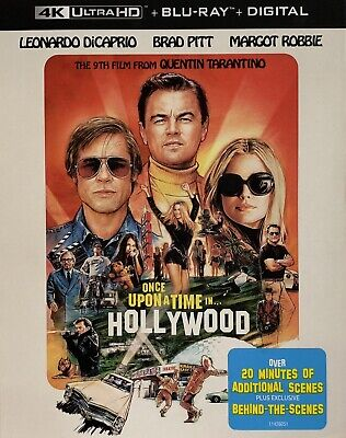ONCE UPON A TIME IN HOLLYWOOD ~ 4K ULTRA HD + Blu-Ray + Digital *New •