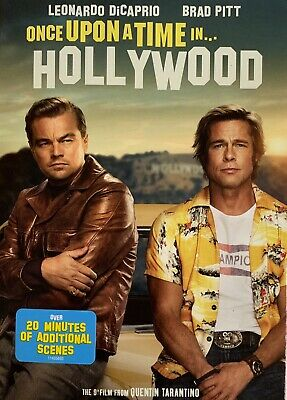 ONCE  UPON A TIME IN HOLLYWOOD   <   DVD   >  *New *Factory Sealed•