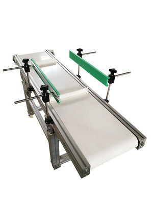 """Newest Flat Conveyor System with Bezel for Safety Transporting 59""""*11.8"""" White"""