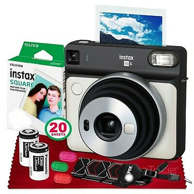 Fujifilm instax SQUARE SQ6 Instant Film Camera BUNDLE + 7pcs Acc  (Pearl White)