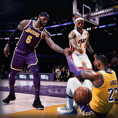 "LBJ La Lakers NBA MVP Basketball 14/""x24/"" Poster 690 Lebron James"