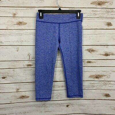 Ivivva By Lululemon Girl's Blue Active Athletic Cropped Leggings Size 14