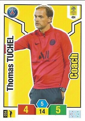 Panini-Adrenalyn XL 2019 / 2020 Coach TUCHEL N°484 PARIS PSG