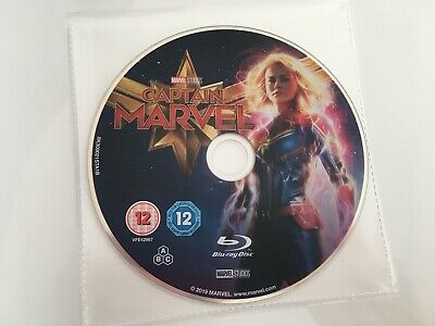 CAPTAIN MARVEL (Blu ray) 2019 DTS HD MA 7.1 Brand New Disc Only