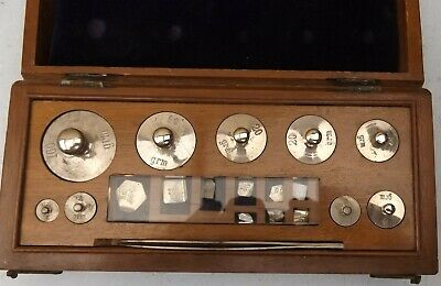 Vintage Box Of Weights For Scales Chemist Jeweller Apocthracy Starting At 100G